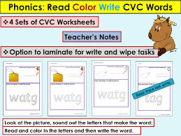 Phonics: CVC Words, Read, Color Write Activities by Ro_Milli0110 ...