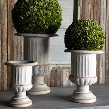 garden urns metal garden urns
