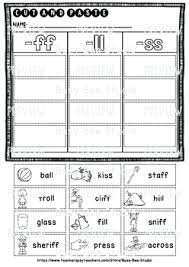 These free phonics worksheets can be used to practice the following phonics rules: Double Consonant Endings Ll Ff Ss Zz Sorts Cut And Paste Worksheets
