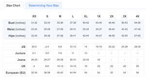 Size Chart Modcloth Size Chart Of Brand