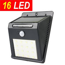 promotion16 led super bright solar sensor outdoor wall light motion activated security light garden patio emergency lighting led solar sensor outdoor wall