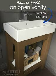 building a small bathroom. easy open vanity how-to and building instructions - fits an ikea sink, a small bathroom