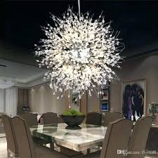 large modern black pendant light dining room fixture dandelion led ceiling crystal m chandeliers lighting globe