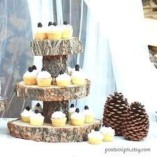 wood tiered cake stand wooden three tier vintage wedding