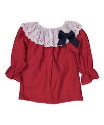 Caught Ya Lookin Red Pin Dot & Eyelet Priscilla Bishop-Sleeve Dress -  Infant & Toddler | Best Price and Reviews | Zulily