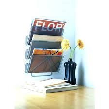 magazine rack office. Magazine Rack For Office Modern Holder Brushed Nickel Small Plastic Racks Wall E