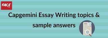 Capgemini Essay Writing Topics Capgemini Essay Writing
