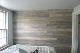 how to fake a reclaimed wood plank wall