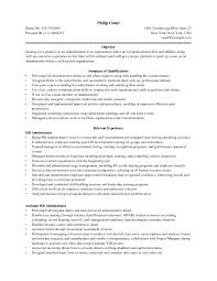 Sample Resume Objectives For Business Administration Best Download