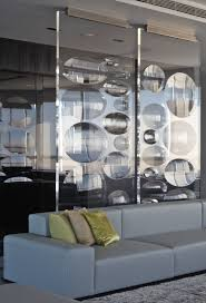 Living Room Partition Divine Clear Glass Living Room Divider With Bubble Patterns As