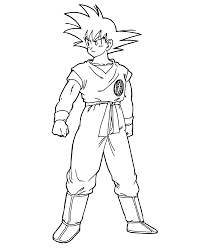 Small Picture Goku Coloring Pictures coloring pages