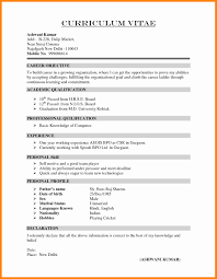 Resume Format Graduate Fresher Therpgmovie