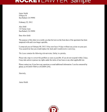 Complaint Letter To Landlord Template With Sample For Letter To