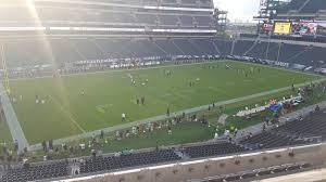 seat view for lincoln financial field section c17