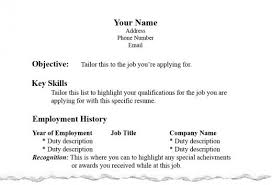 A Proper Resume Free Resume Templates 2018