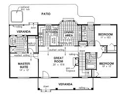 Master Bedroom Suite Floor Plans Additions Country Style House Plan 3 Beds 200 Baths 1412 Sq Ft Plan 18 1036