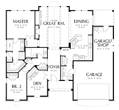 Astounding Mini st Square House Plans Give You Optimum Space    Architecture Clever House Design Two Bedrooms Spacious Garage Square House Plans Astounding Mini st Square House Plans