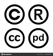 Registered Symbol Vector High Quality Symbols Collection Set Copyright