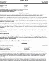 experienced federal resume sample