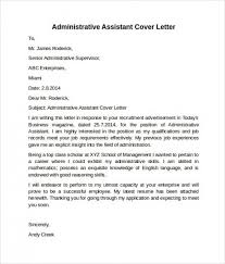Administrative Assistant Resume Cover Letter 2018