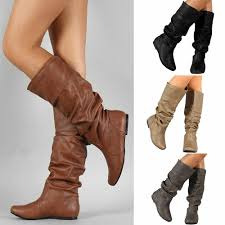 details about slouch collection womens wide and extra wide calf slouch knee high leather boot