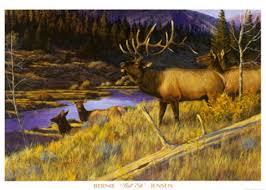 Bull Elk Fine Art Print by Bernie Jensen at FulcrumGallery.com