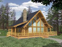 Log House Plans   The House Plan ShopLog House Design  L