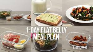 Clean Eating Meal Planning Chart 7 Day Flat Belly Meal Plan Eatingwell