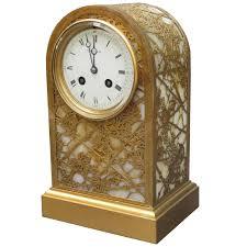 fine tiffany studios art nouveau clock