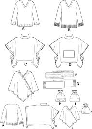 Poncho Sewing Pattern Adorable Simplicity 48 Poncho