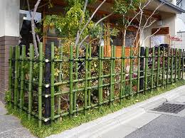japanese fence design. Architecture:Front Yard Design With Diy Green Bamboo Fence And Small Garden Front Japanese T