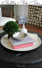 style a round coffee table decor fix
