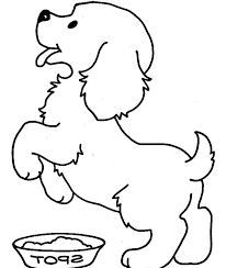 Small Picture Cute Puppy Coloring Pages For Kids Free Printable Animals