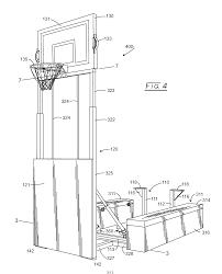 patent us20160184401 folding basketball goal google patents drawing