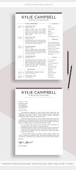 New Simple And Clean Resume Template Stand Out From The Crowd With