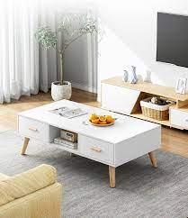 wood modern living room nested coffee