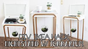 Image Drawers Diy Ikea Hacks Nightstand With Hanging Succulent Terrarium Diy Ikea Furniture Hack Hildurko Hildurko Diy Ikea Hacks Nightstand With Hanging Succulent Terrarium Diy