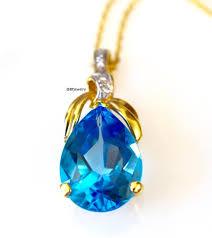 9 36 carat swiss blue topaz and diamond
