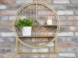 shelf wall metal geometric circular