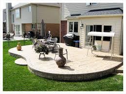 stamped concrete patio ideas exposed