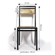 metal design furniture. chaise industrielle mtal et bois de manguier metal design furniture r