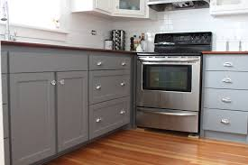 modern two tone grey kitchen cabinets and white cabinet color in white kitchen design with white