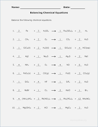 Balance Equations Worksheet Answers – careless.me