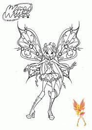 Small Picture Winx club coloring pages for girls printable and online