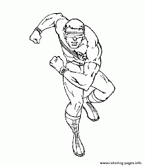 After coloring the different parts, you must have a drawing that is close to this one. Cyclops Printable S X Men Hero9647 Coloring Pages Printable