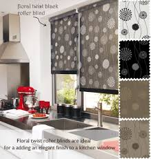 Patterned Blinds For Kitchen Floral Twist Patterned Roller Blinds Made To Measure Floral