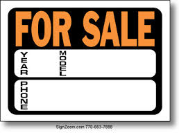 auto for sale sign auto for sale sign