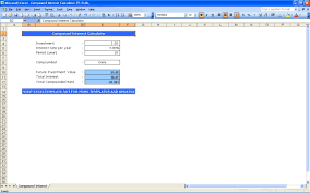 Daily Compound Interest Calculator Excel Template Thedl
