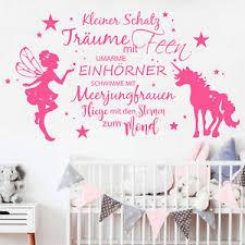Wandtattoo Elfe Mit Einhorn Und Spruch 12357 Sterne Kinderzimmer