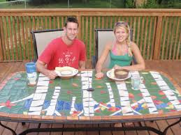Make Your Own Ceramic Mosaic Patio Table for Cookout Season